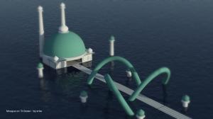 Mosque on d ocean